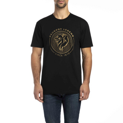 T-shirt nero da uomo Peugeot LEGEND
