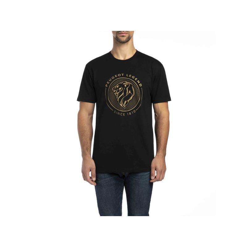Pánské černé tričko Peugeot LEGEND 2018