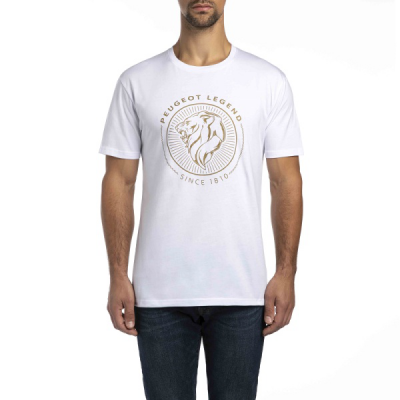 Camiseta blanca de hombre Peugeot LEGEND 2018