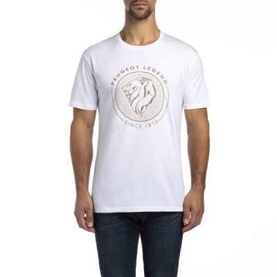 Panske biele tričko Peugeot LEGEND 2018