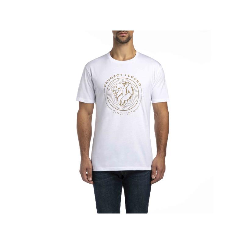 Men's White T-shirt Peugeot LEGEND 2018