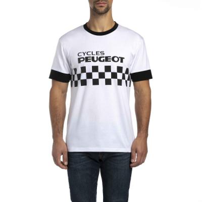 Camiseta de hombre Peugeot LEGEND CYCLES DAMIER