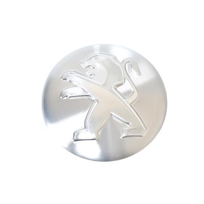 Stredová krytka Peugeot šedá hliníková
