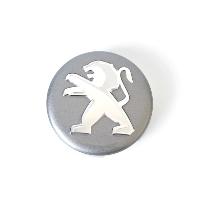 Tapacubo para rueda de aluminio Peugeot gris