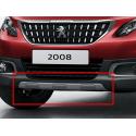 Okrasná lišta predného nárazníka ŠEDÁ MATNÁ Peugeot 2008