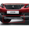 Front bumper moulding GREY GLOSSY Peugeot 2008