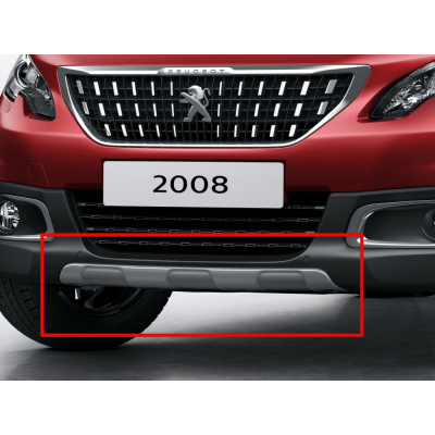 Front bumper moulding GREY GLOSSY Peugeot 2008