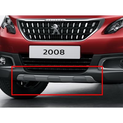 Okrasná lišta predného nárazníka ŠEDÁ LESKLÁ Peugeot 2008