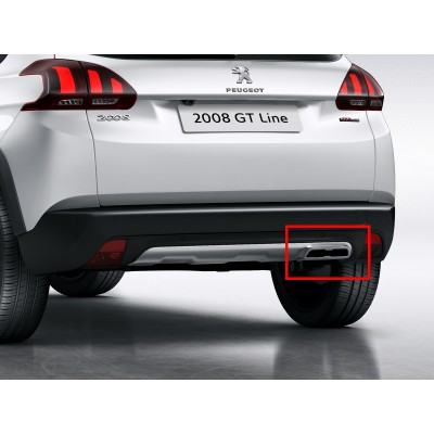 Chromed Exhaust Tailpipe Peugeot 2008