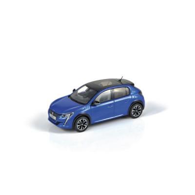 Modelo Peugeot e-208 azul 1:43