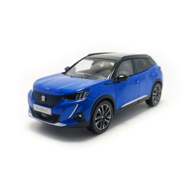 Modelo Peugeot e-2008 GT (P24) azul 1:43