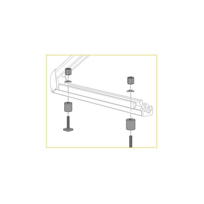 Kit de fijación para portaesquís (barras de techo de aluminio)