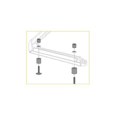 Kit di fissaggio per portasci  (barre del tetto di alluminio)