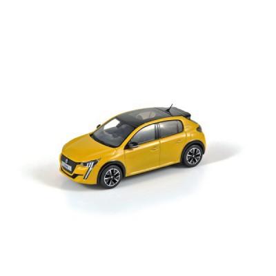 Model Nový Peugeot 208 GT žlutá 1:43