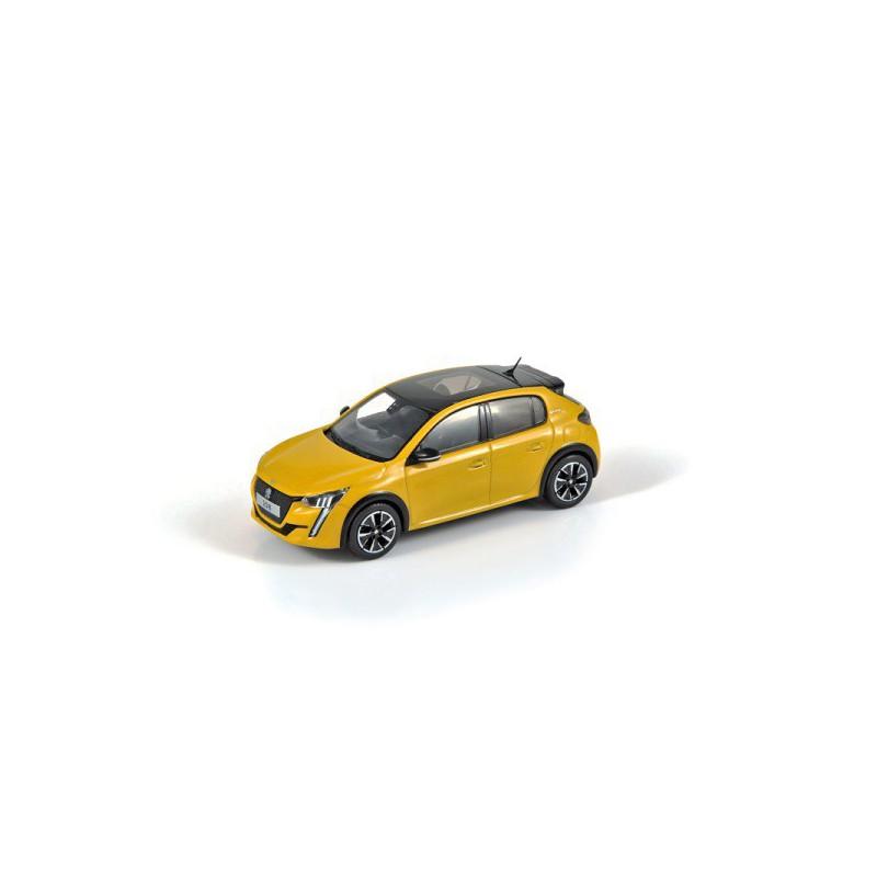 Modelo Peugeot 208 GT amarillo 1:43
