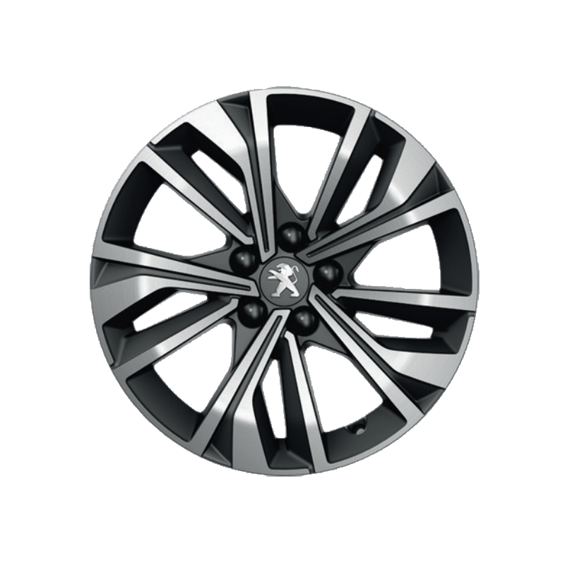 """Alloy wheel Peugeot MERION black 17"""" - 508 (R8)"""