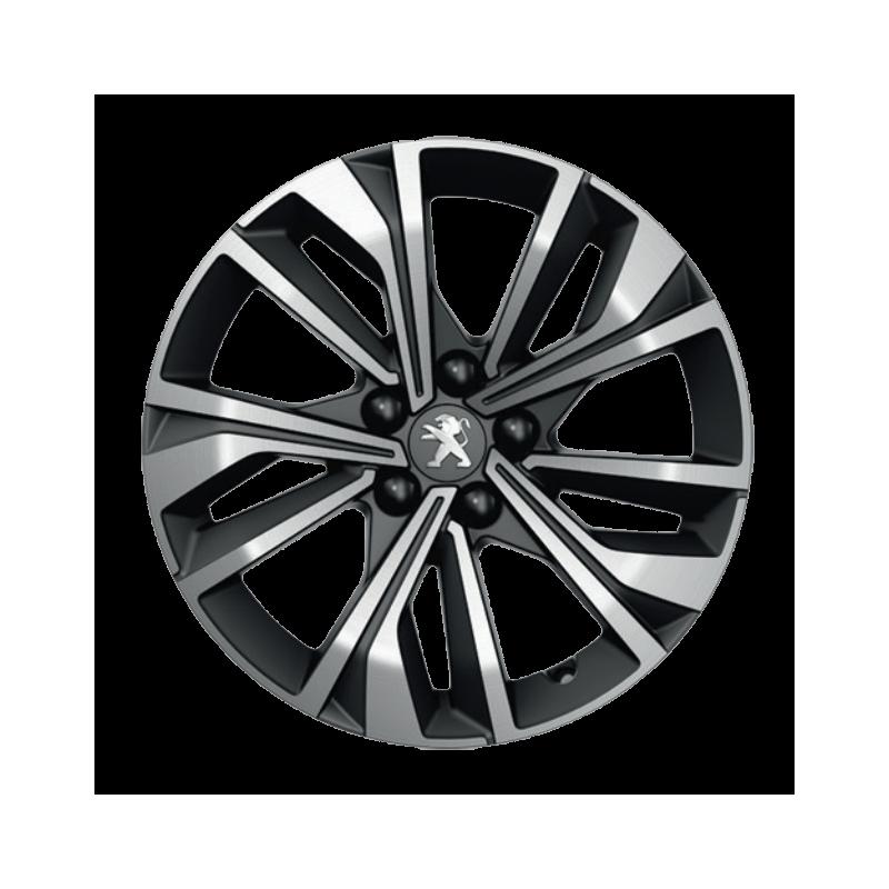 """Cerchio in lega Peugeot MERION nero 17"""" - 508 (R8)"""