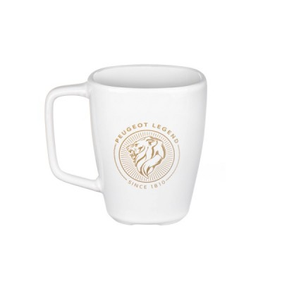 Porcelain mug Peugeot LEGEND white