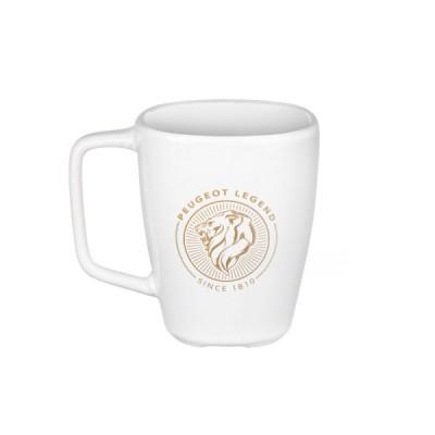 Taza de cerámica blanca Peugeot LEGEND