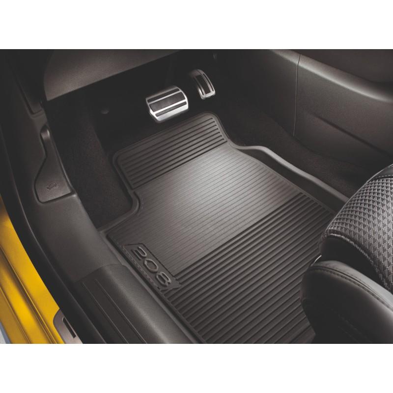Set of rubber floor mats front Peugeot 208 (P21)