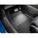 Set of rubber floor mats front Peugeot e-208 (P21)