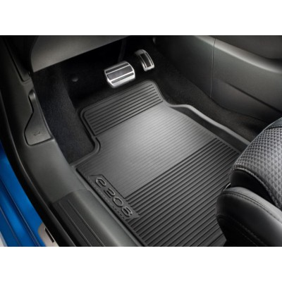 Set of rubber floor mats front Peugeot e-208 (P21)
