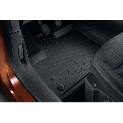Set of rubber floor mats front Peugeot Rifter, Partner (K9)