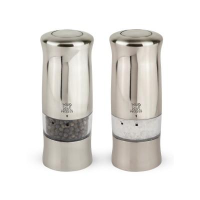 Peugeot ZELI Dúo de molinillos de pimienta y sal eléctricos 14 cm