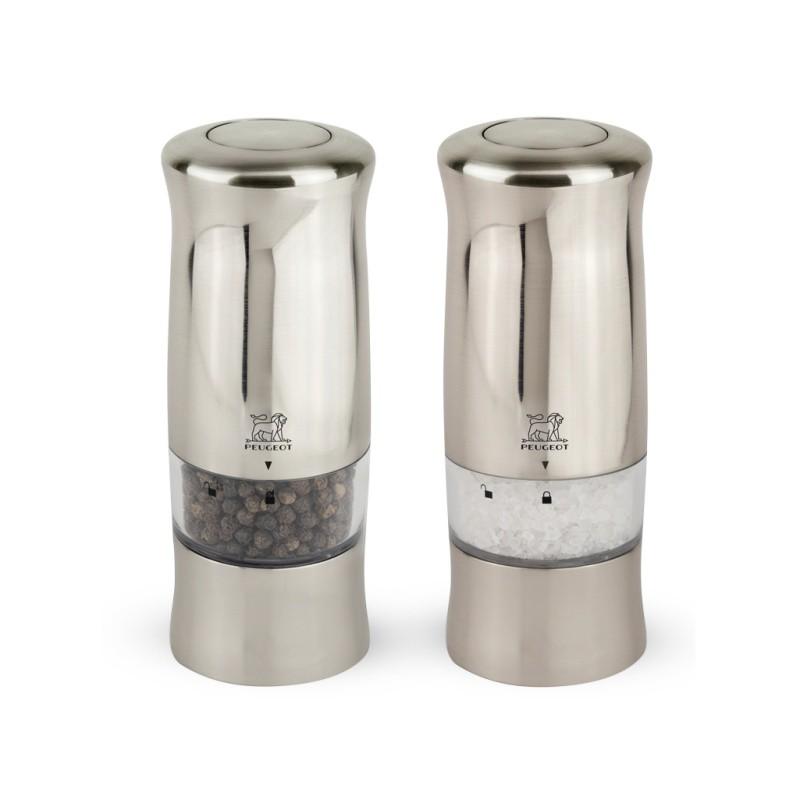 Peugeot ZELI Electric salt and pepper mill duo