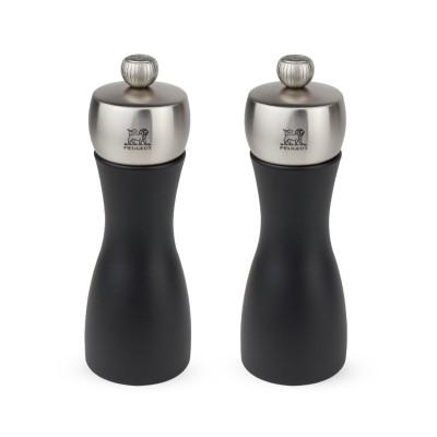 Peugeot Dárkový set mlýnků na pepř a sůl FIDJI černé 15 cm