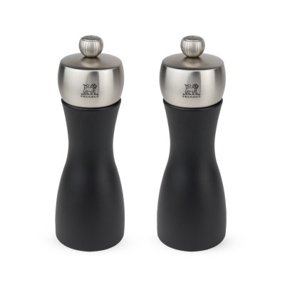 Peugeot FIDJI Dúo de molinillos de pimienta y sal color negro 15 cm
