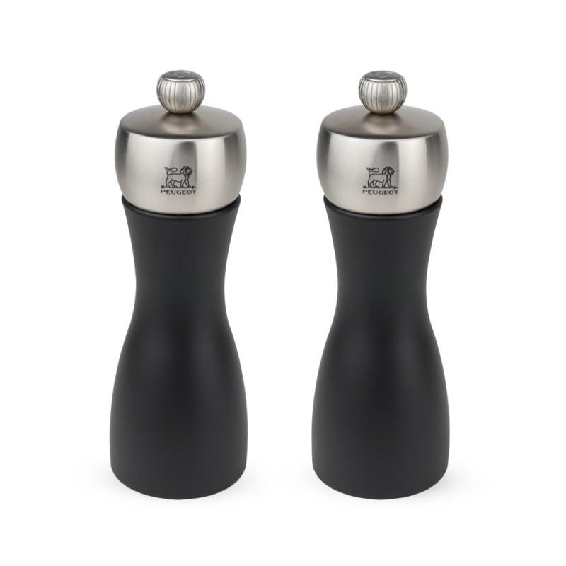 Peugeot Darčekový set mlynčekov na korenie a soľ FIDJI čierne 15 cm