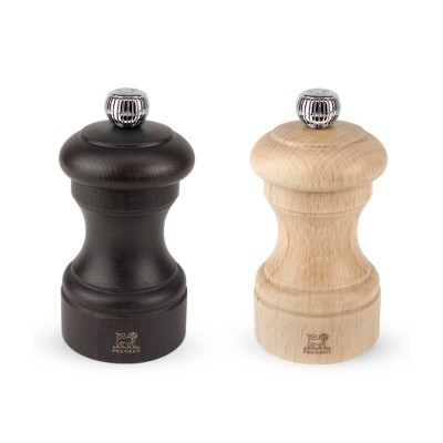 Darčekový set Peugeot mlynčekov na korenie a soľ Bistro, bukové drevo a čokoládová 10 cm