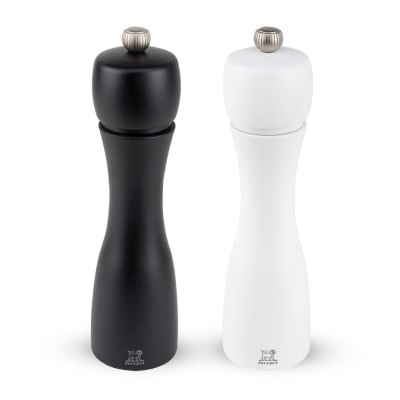 Peugeot TAHITI salt and pepper mill duo, black and white, 20 cm