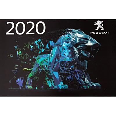 Oficiální nástěnný kalendář Peugeot 2020