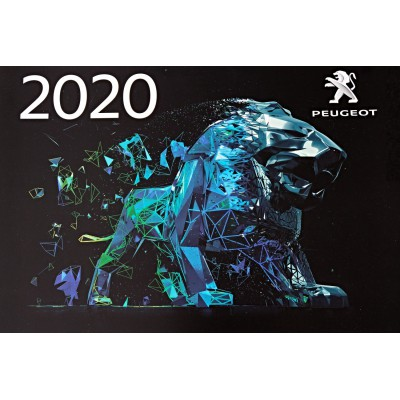 Peugeot Official Wall Calendar 2020