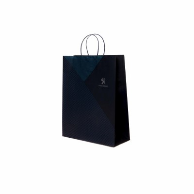 Paper shopping bag blue Peugeot - small