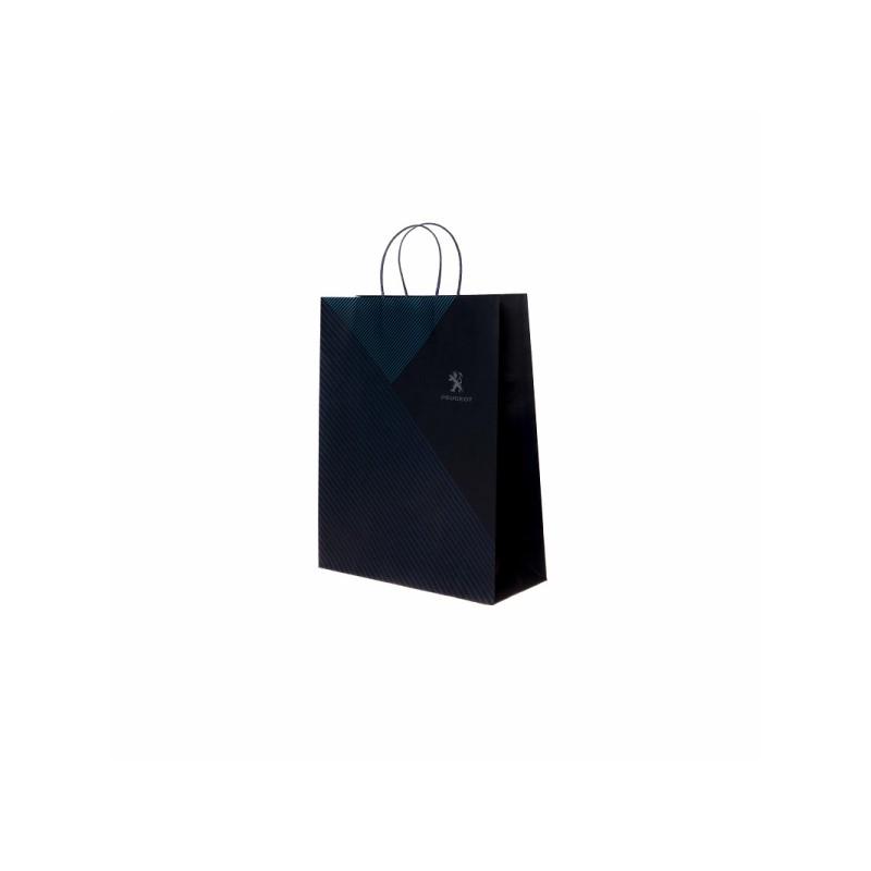 Papierová taška modra Peugeot - malá