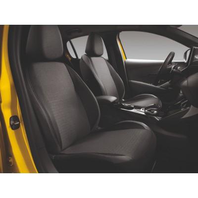 Potahy předních sedadel TARA Peugeot 208 (P21)