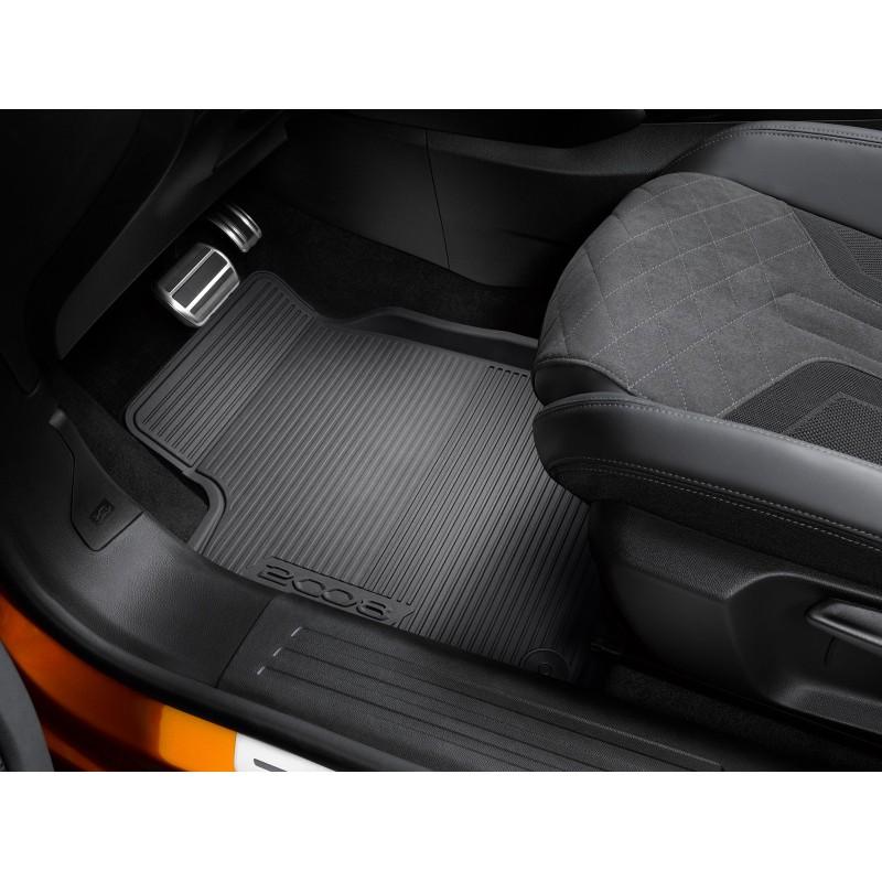 Set of rubber floor mats front Peugeot 2008 (P24)