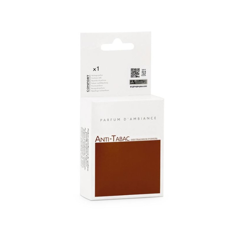 Integrated or portable fragrance diffuser refill Peugeot ANTI-TABAC