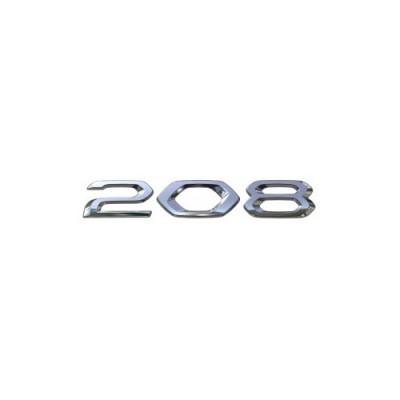 """Štítek """"208"""" zadní část vozu Peugeot 208 (P21)"""