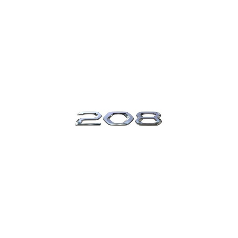 """Badge """"208"""" rear Peugeot 208 (P21)"""