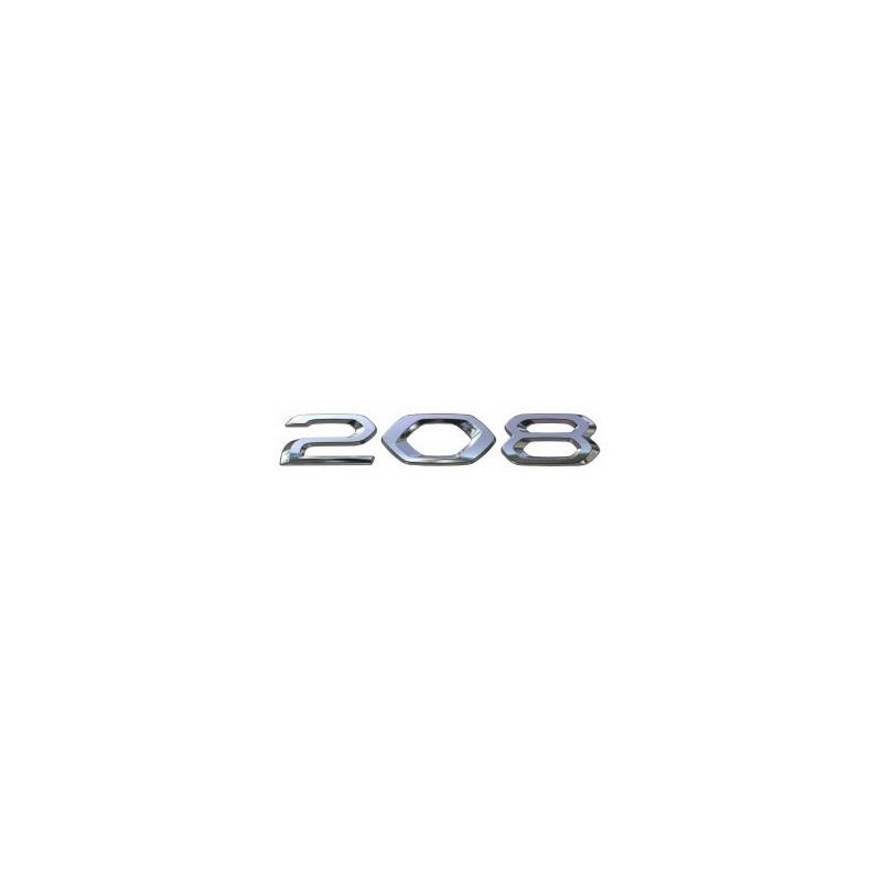 """Štítok """"208"""" zadná časť vozidla Peugeot 208 (P21)"""