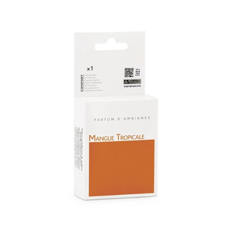 Integrated or portable fragrance diffuser refill Peugeot MANGUE TROPICALE