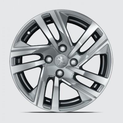 """Juego de 4 llantas de aleación TAKSIM 16"""" Peugeot 208 (P21)"""