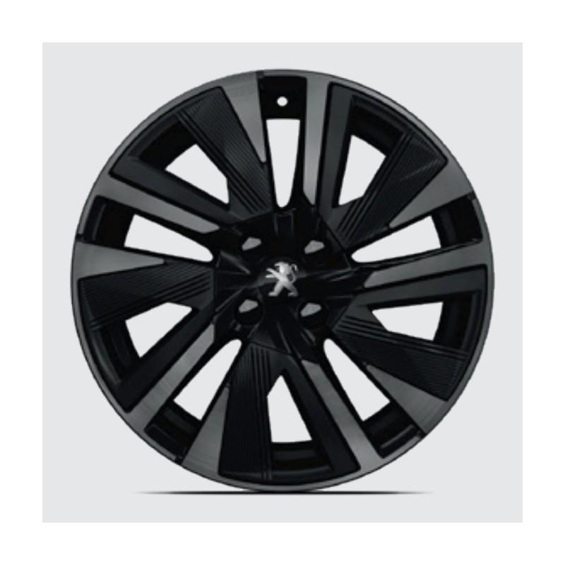 """Cerchio in lega Peugeot EVISSA Black Pack 18"""" - 2008 (P24)"""