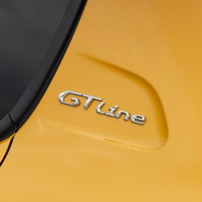 """Badge """"GT LINE"""" left side of vehicle Peugeot 208 (P21)"""