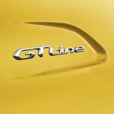 "Monogrammo ""GT LINE"" lato sinistro Peugeot 208 (P21)"