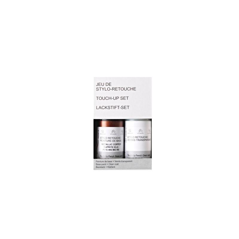 Pennarello per ritocco vernice Peugeot - ROSSO VOLCANO / ARANCIONE VOLCANO (EPN)